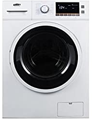 Summit SPWD2200W Front Load Combo Washer Dryer, White