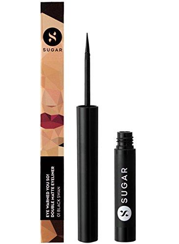 - SUGAR Cosmetics Eye Warned You So! Double Matte Eyeliner 01 Black Swan