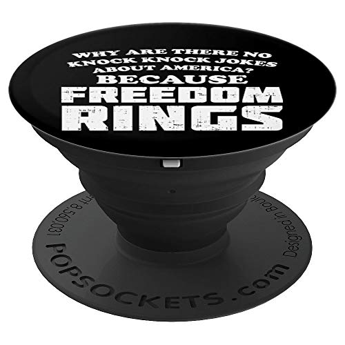 America Jokes Freedom Rings Funny 4th Of July Pride Patriot - PopSockets Grip and Stand for Phones and Tablets
