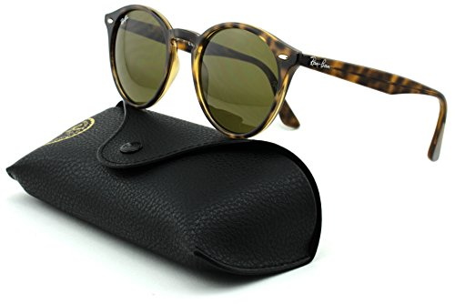 Ray-Ban RB2180 Unisex Round Sunglasses (Dark Havana/Dark Brown Lens 710/73, - R B Sunglasses