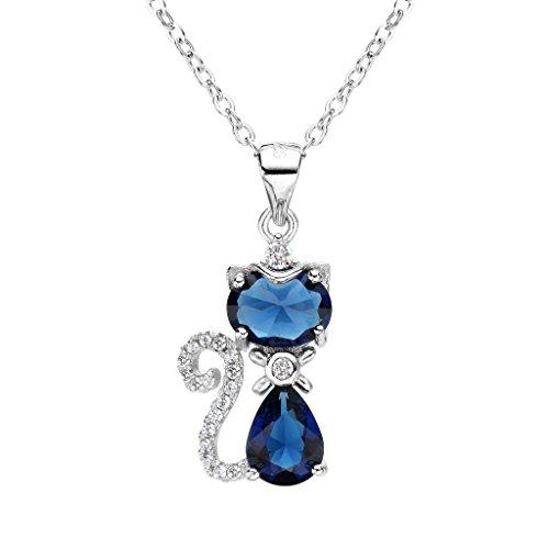 EleQueen Sterling Zirconia Teardrop Necklace product image