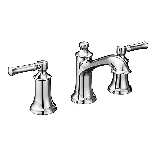 Moen T6805 Dartmoor Two-Handle Low Arc Bathroom Faucet without Valve, Chrome