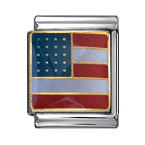 American Flag Italian Charm 13mm
