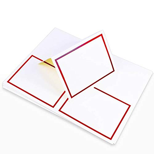 LCI White Red 2up Printable Card - A2 (4 1/4 x 5 1/2) Foil Border, 65lb Cover, 25 Pack