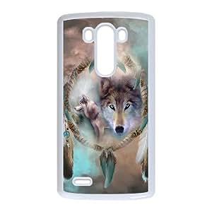 LIULAOSHI Wolf Dream Catcher Phone Case for LG G3 White [Pattern-1] by Maris's Diary
