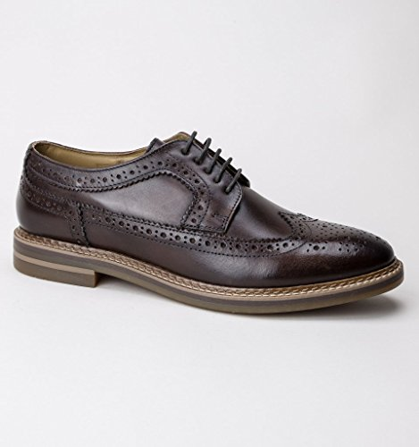 Scarpe Uomo Brouge London Brown Turner Stringate Base RvqSxwHzn
