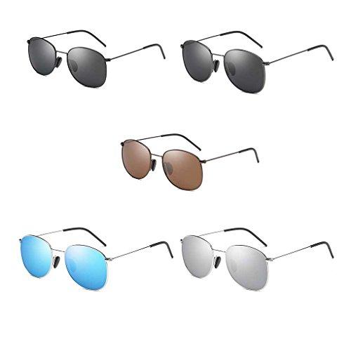 4 Metal Coolsir Solar los Frame Ligero de de Conducción Protector de de Sol Gafas Pesca Eyewear polarizadas Providethebest Hombres Sol Retro Gafas 1qwBTT