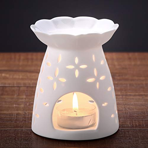 NJCharms Ceramic Tealight Holder Essential Oil Burner Aromat