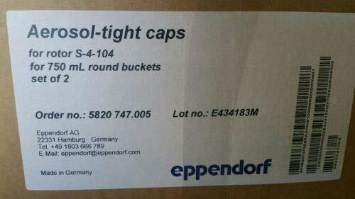 Eppendorf Aerosol-Tight caps for Rotor S-4-104 750 mL Round Buckets #5820747.005