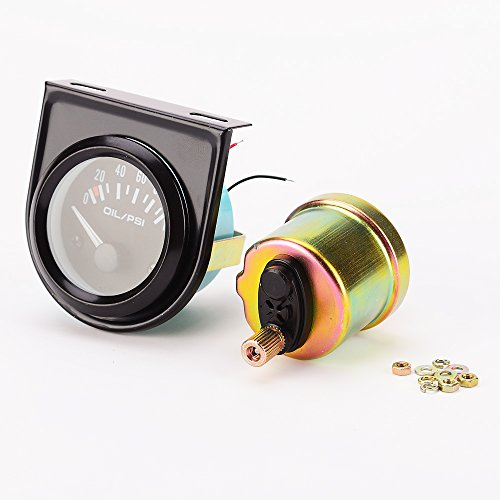 100 Psi Oil Press - Iztor Universal 2 inch 52mm Car Oil Pressure Gauge 0-100 Psi LED Oil Press Meter Auto Gauge Instrument