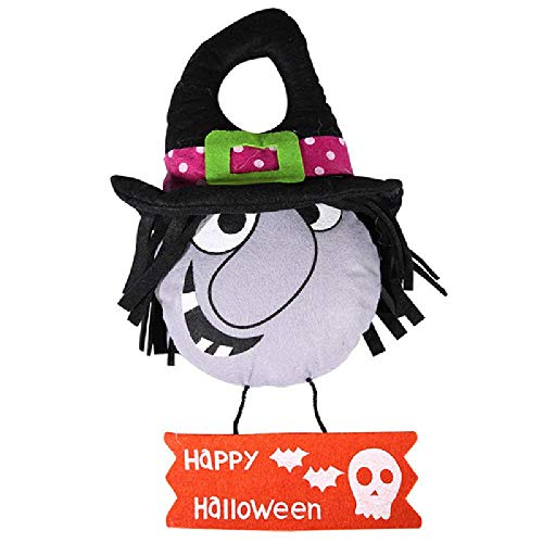 Happy Halloween Pumpkin Witch Ghost Hanging Hangtag Kids Toys Props Party Decor Witch OneSize for $<!--$8.29-->