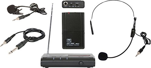 Galaxy Audio Triple Play VHF Wireless Belt Pack System Freq Code V54 -
