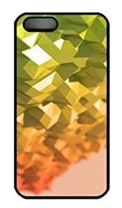 iPhone 5S Case - Customized Unique Design Polyhedra New Fashion PC Black Hard