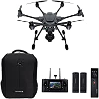 Yuneec Typhoon H Pro with Intel RealSense Technology - 4K Collision Avoidance Hexacopter Drone, Carbon Fiber, with Backpack, Wizard, 2 Batteries (YUNTYHBRUS-R) (Certified Refurbished)