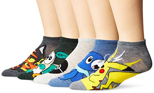 Pokemon 5 Pack No Show Men's Socks, Assorted, 10-13 (Pokemon Shoes Boys)