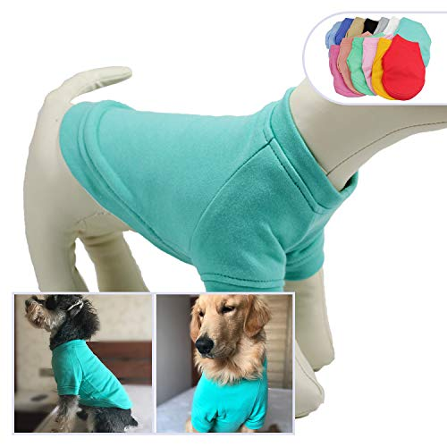 lovelonglong 2019 Dog Pullover Sweatshirt Autumn Winter Cold Weather Dog T-Shirts for Small Medium Large Size Dogs Yorkshire Terrier Clothes