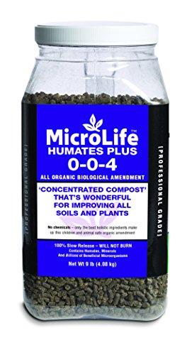 Drop Granulated (Organic Biological Amendment Humates Plus Professional Grade by Microlife Granulated (0-0-4) 9LB)