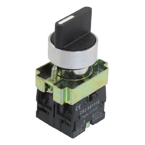 Uxcell a12082000ux0340 22mm Latching 2 NO Three 3-Position Rotary Selector Select Switch ZB2-BE101C
