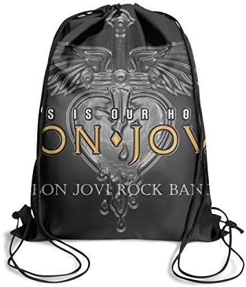 Drawstring Backpack Dancing Bag pull string Sackpack Rock Music Band Album Cover Style vintage Adjustable Gymsack for Men Women