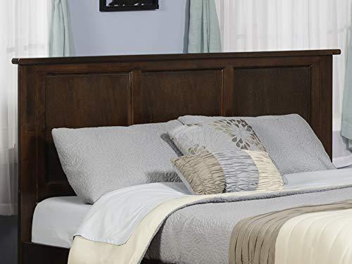 Bedroom Atlantic Furniture Madison Headboard, King, Walnut farmhouse headboards