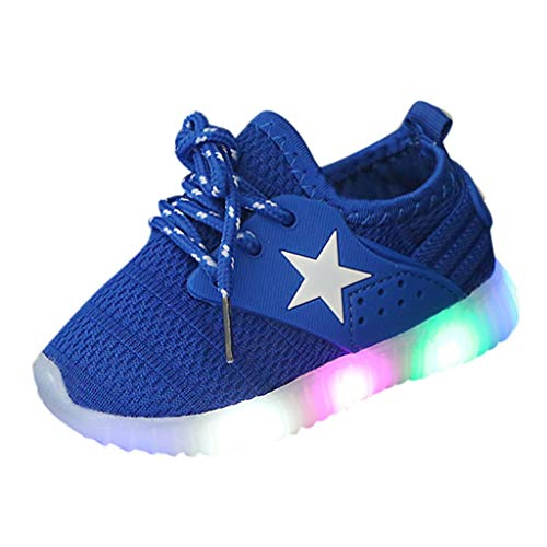 Light Sneakers Haalife◕‿ Baby Girls boy Casual Light Weight Breathable lace up Sneakers Running Shoe Blue