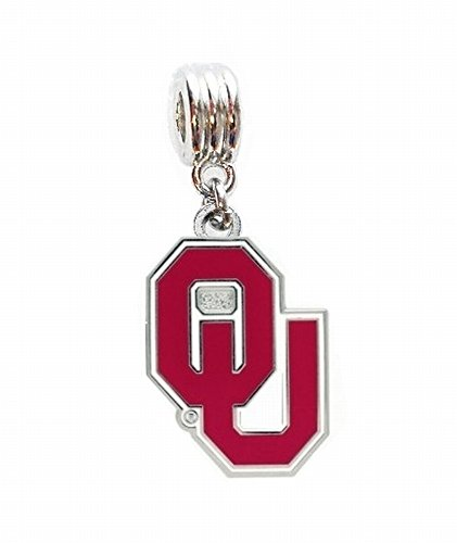 OU UNIVERSITY OF OKLAHOMA SOONERS CHARM SLIDER PENDANT FOR YOUR NECKLACE EUROPEAN CHARM BRACELET (Fits Most Name Brands) DIY PROJECTS ETC