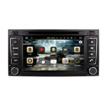 XTTEK 7 inch HD 1024x600 Multi-touch Screen in dash Car GPS Navigation System for Volkswagen VW Touareg 2002-2010 Quad Core Android DVD Player+Bluetooth+WIFI+SWC+Backup Camera+North America Map