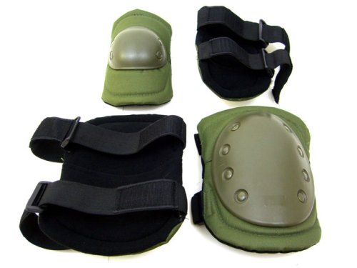 Protective Knee Pads & Arm Pads, Dark Green by Unknown