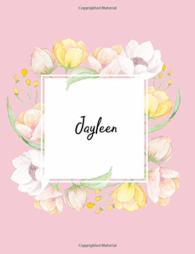 Jayleen: 110 Ruled Pages 55 Sheets 8.5x11 Inches Water Color Pink Blossom Design for Note / Journal / Composition with Lettering Name,Jayleen pdf