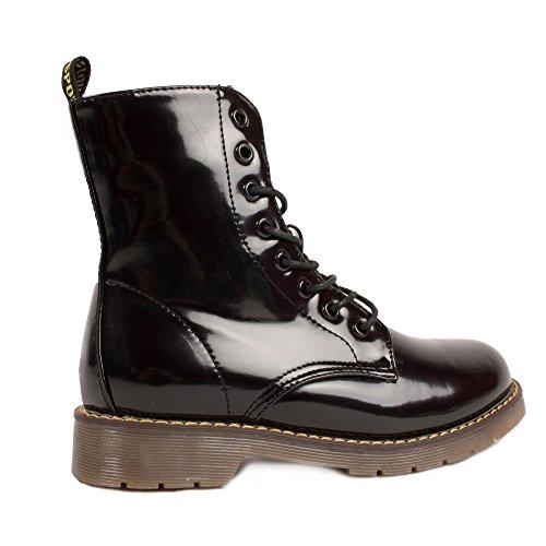 Anglais Femme Semi Vernies Rock Style Montante Rangers Boots XSdzSw