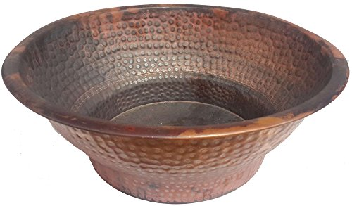 Egypt gift shops Fire Burnt Deep Copper Pedicure Foot Massage Therapy Spa Bowl by Egypt gift shops