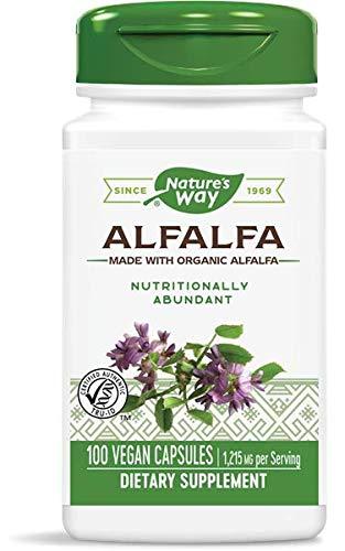Natures Way Alfalfa Leaves, 1,215 mg, 100 Vegetarian Capsules, Pack of 2