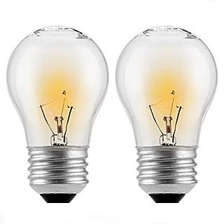 (2-Pack) Appliance Oven Light Bulb,HighTemperature 300 Degree Resistant Incandescent Bulbs - High Temp - 120v 40 watt Clear - 415 Lumens - Medium BrassE26/E27 Base - A15