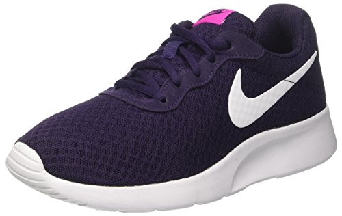 NIKE Women's Tanjun Shoe Purple Dynasty/White Fire/Pink Size 7 B(M) US