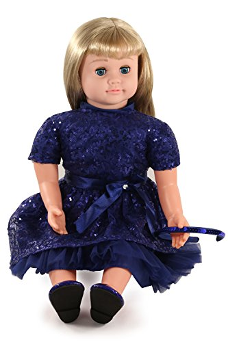 Ask Amy 22  Talking Interactive Singing Storytelling Smart Educational Doll Blond Blue Sparkles Dress