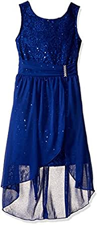 Amazon Com Amy Byer Big Girls Sleeveless Sequin Dress