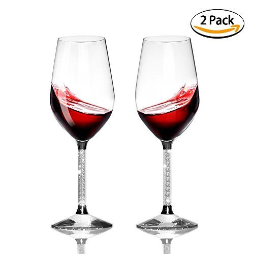 wine glasses red ,Inofia Handcrafted Red / White Wine Glass - 100% Lead Free Premium Quality Crystal Glass, Perfect for Any Occasion, Professional Wine Tasting -- Set of - Handcrafted Glasses