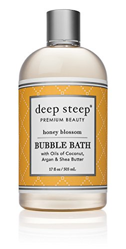 Deep Steep Bubble Bath, Honey Blossom, 17 Ounces