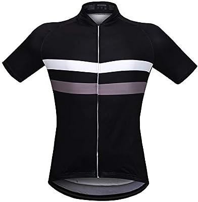 Ciclismo Maillot Camisa de verano de manga corta, ciclismo, secado rápido, ciclismo, ciclismo deportivo, camisa transpirable de ciclismo con 3 bolsillos for hombres (Color : Negro , tamaño : XXL) : Amazon.es: Hogar