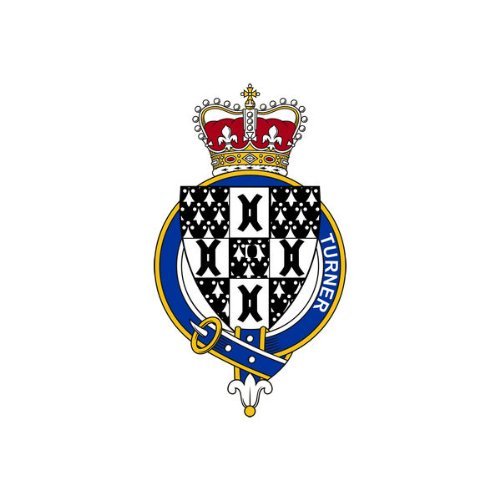 Turner England Family Crest Coat of Arms Mouse Pad (Turner Genealogy)