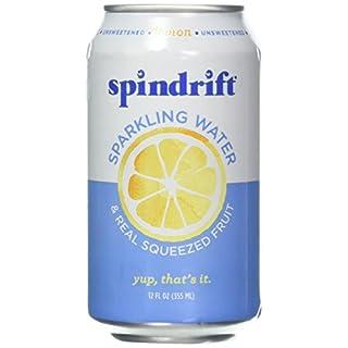 Spindrift Sparkling Water, Lemon, 12 fl oz