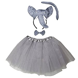 Kirei Sui Kids 3D Animal Costume Face Ears Headband Bowtie Tail Tutu Set