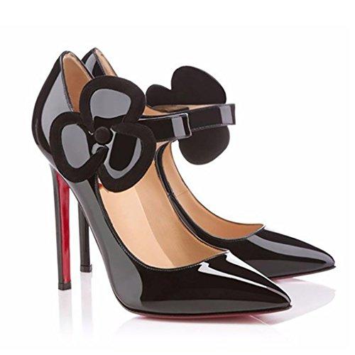 Lackleder wies leichte manuelle Rot Damen Pumps Black