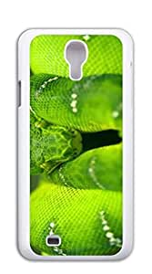 Design Phone Protective Cover case for samsung galaxy s4 for men - Green Rattlesnake