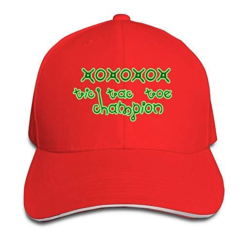 Sandwich Baseball Cap Unisex Adjustable Trucker Style Hats Tic Tac Toe Champion -
