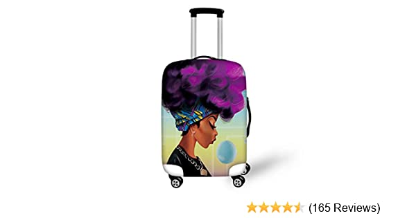 ALAZA Luggage Protector,Skull Pattern Elastic Travel Luggage Suitcase Cover,Washable and Durable Anti-Scratch Case Protective Cover for 18-32 Inches