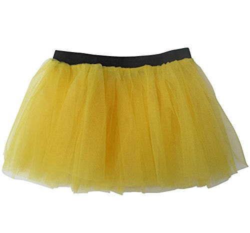 Running Skirt - Teen or Adult Size Princess Costume Ballet or Race Tutu (Yellow) (Princess Costumes For Teens)