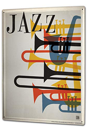 onepicebest Tin Sign Star Jazz Musical Instruments 16