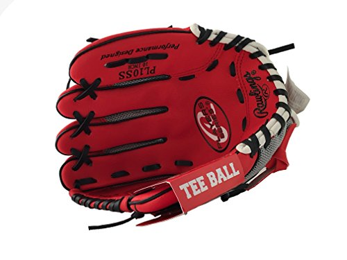 Rawlings Baseball Glove RED Pro 10 inches Professional Tee Ball Pitcher Hand Playmaker Gamer Series Leather Pocket Mitt Red Infield Right Hand Throw Catchers Gloves.