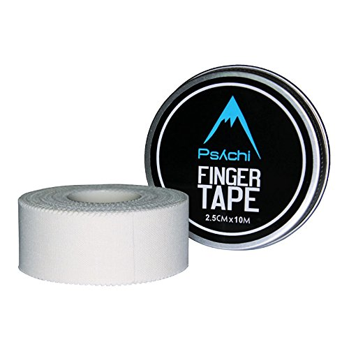 Psychi Sports Zinc Oxide Finger Tape Strapping for Rock Climbing Boxing Gymnastics Physio - White (2.5cm/ 1'')